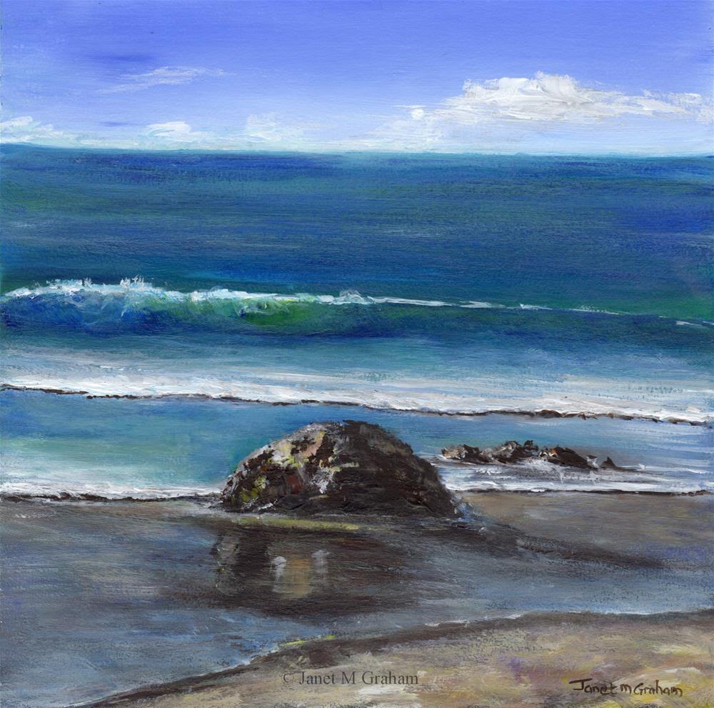 """Kirra Beach 2"" original fine art by Janet Graham"
