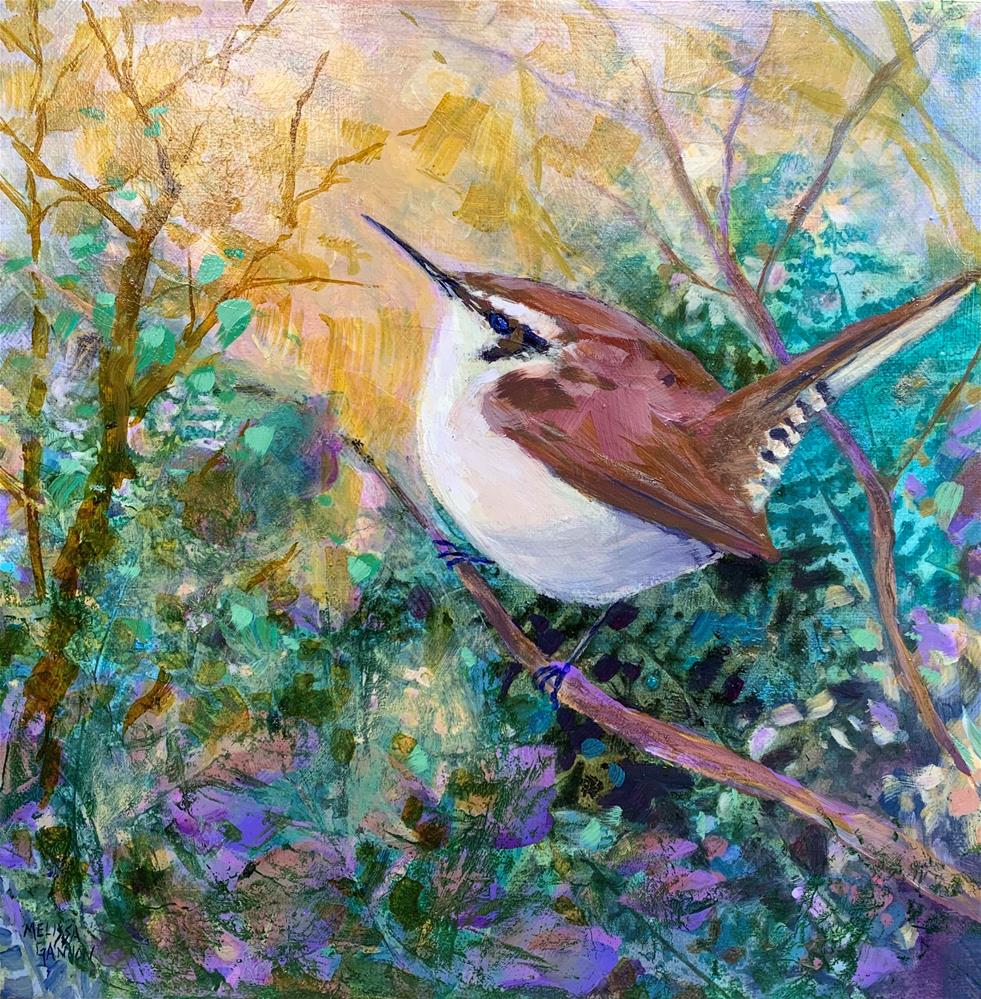 """Wren Magic"" original fine art by Melissa Gannon"