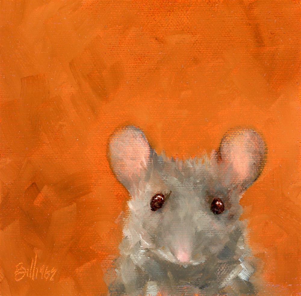 """Yes, a Mouse !"" original fine art by Susanne Billings"