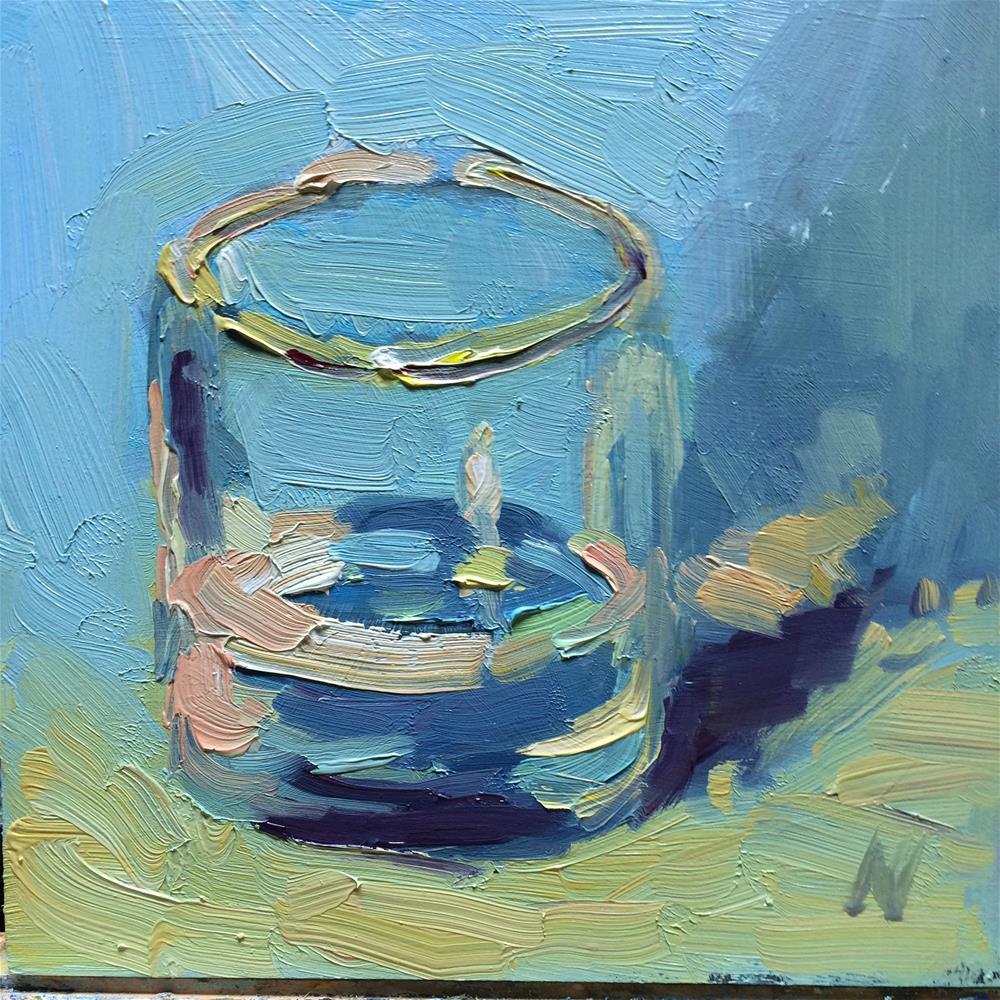 """Glass of water"" original fine art by Naomi Bautista"