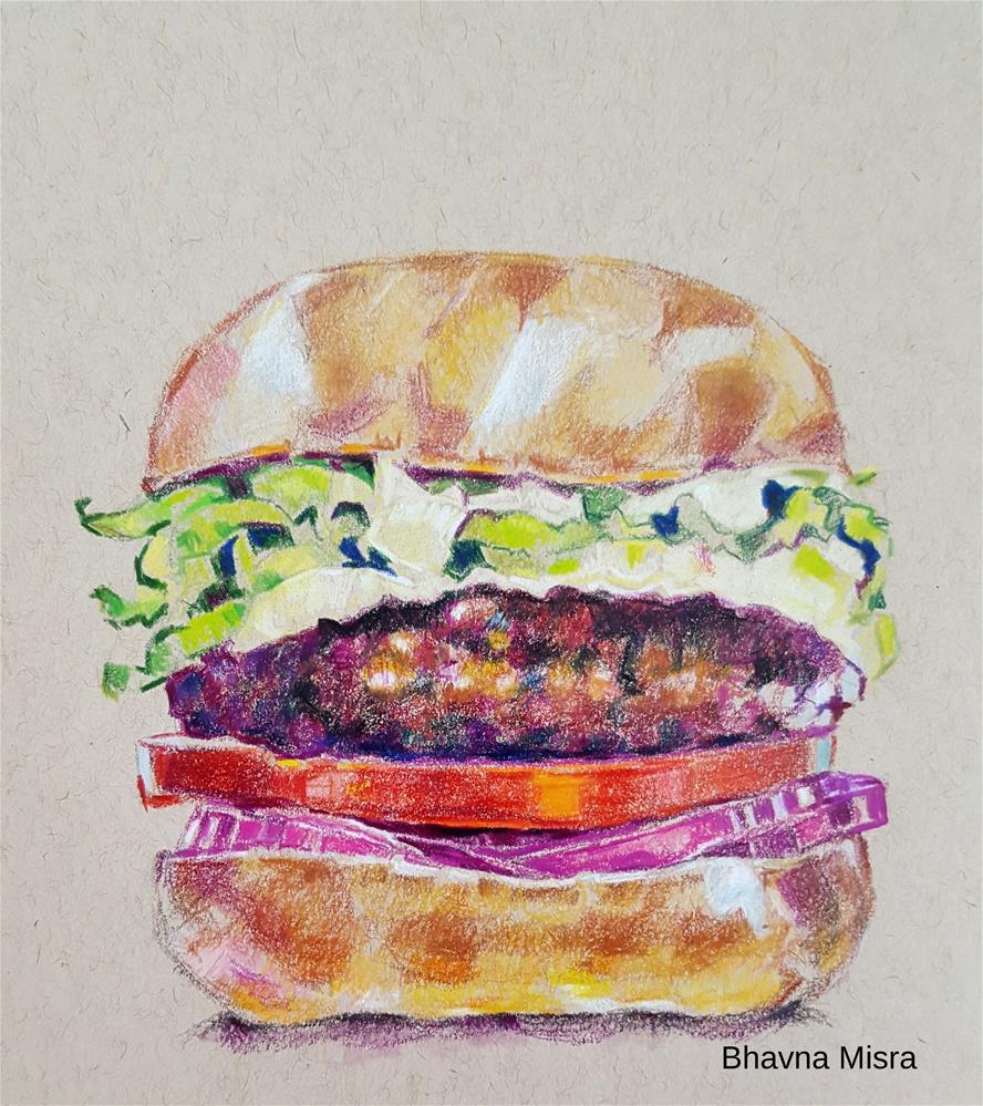 """No Cheese?"" original fine art by Bhavna Misra"