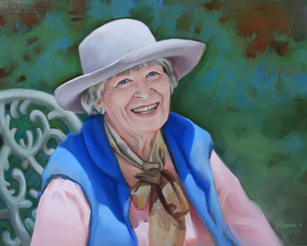 """""""Nancy"""" original fine art by Jeannette Fromm"""