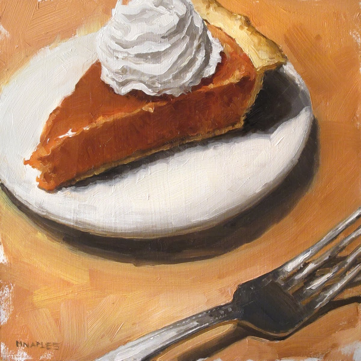"""Pumpkin Pie"" original fine art by Michael Naples"