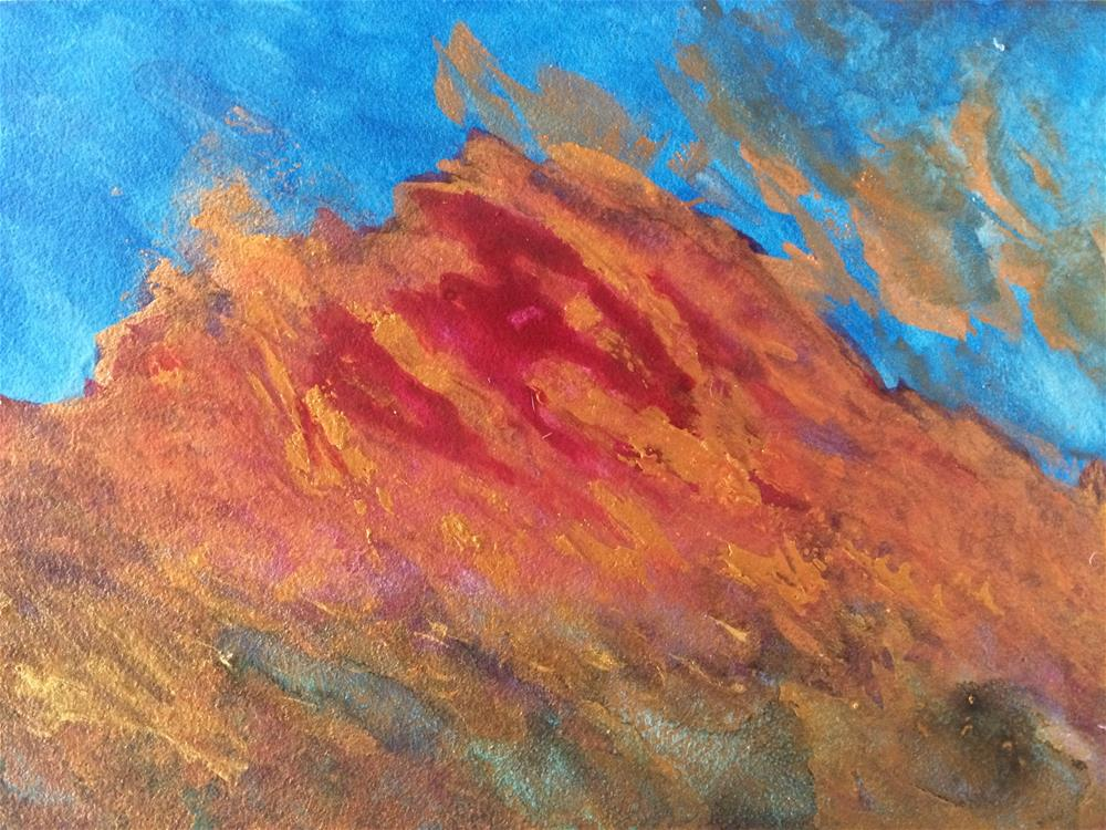 """Blaze"" original fine art by Susan Medyn"