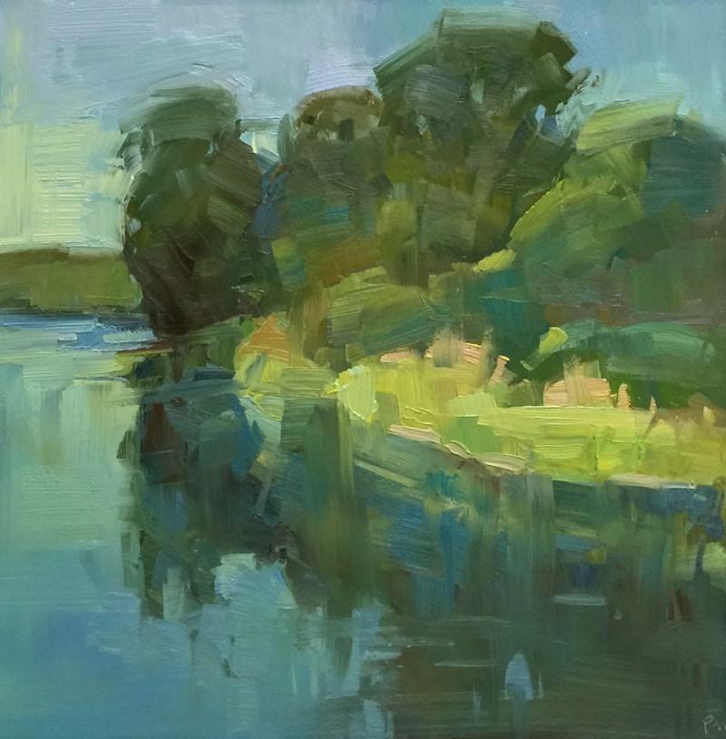 """Early Morning Willamette River"" original fine art by Patti McNutt"