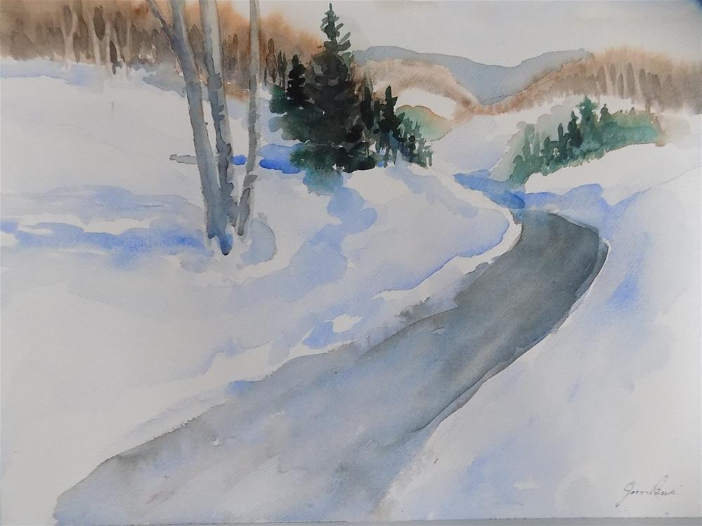 """Winter Magic"" original fine art by Joan Reive"