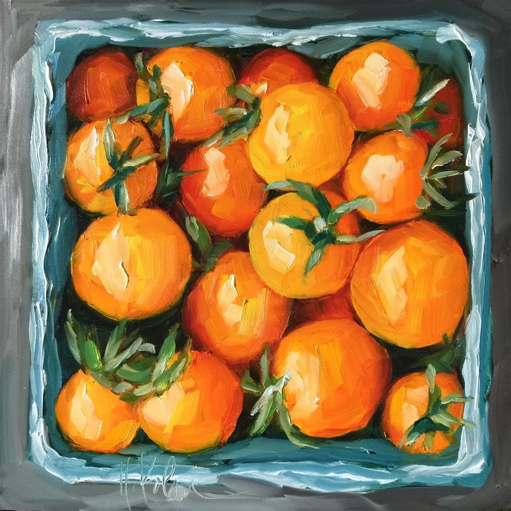 """Yellow Tomatoes"" original fine art by Hallie Kohn"