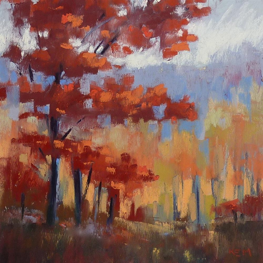 """Why Try a New Color Palette? Appalachian Fall"" original fine art by Karen Margulis"