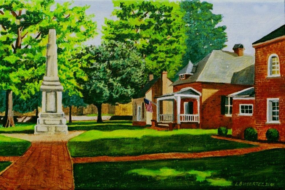 """Gloucester Courthouse, Gloucester, Virginia"" original fine art by Lisa Wiertel"