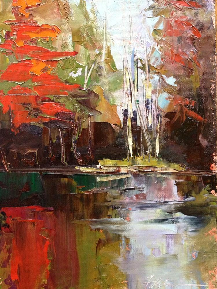 """Autumn Reflections, 8x10"" original fine art by Ann Feldman"