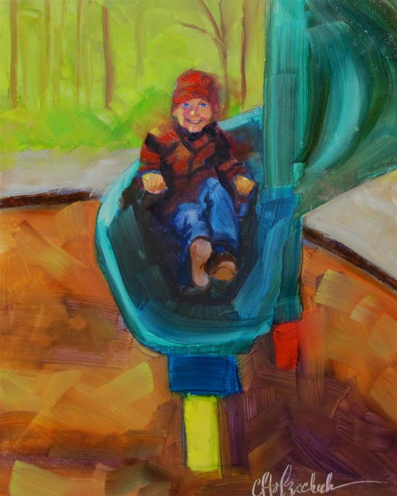 """""""It Was a Good Ride"""" original fine art by Christine Holzschuh"""