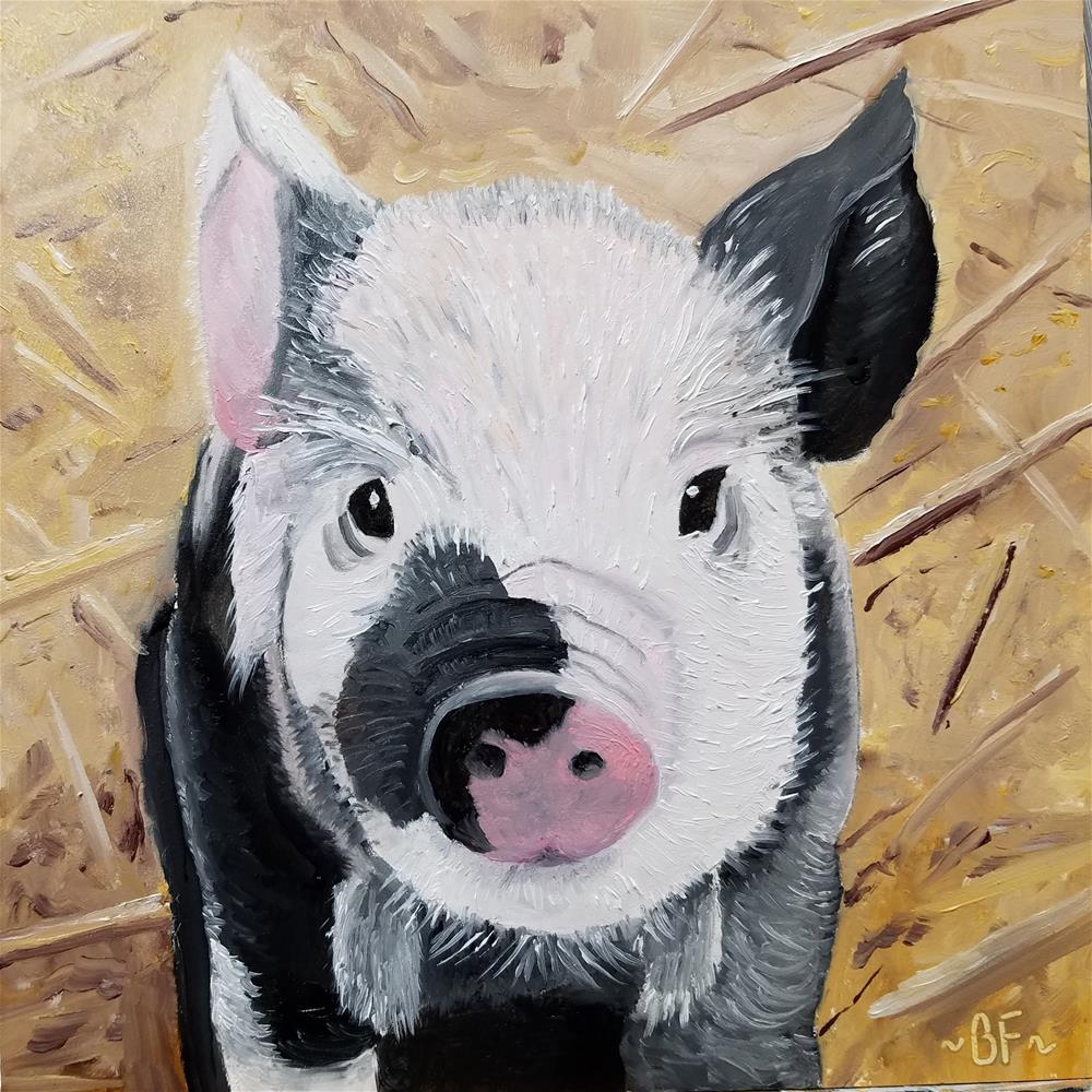 """""""This Little Piggy"""" original fine art by Betty Felenchak"""