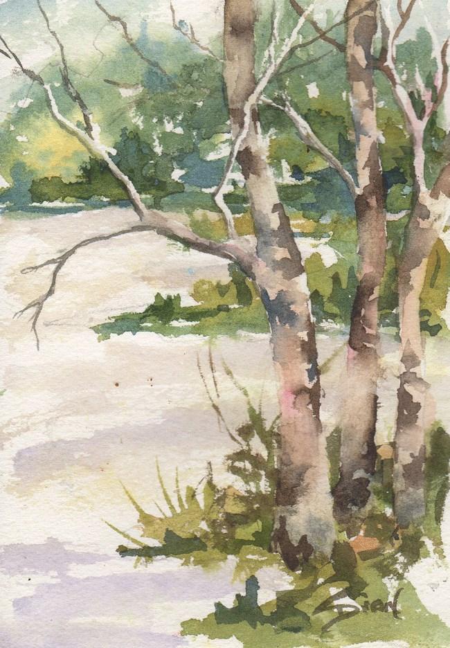 """""""Winter Meadow"""" original fine art by Sue Dion"""