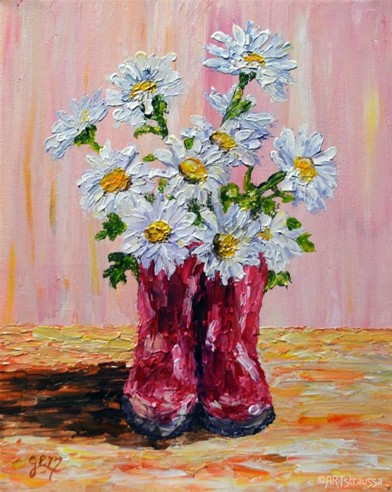 """Daisy Toes"" original fine art by Gloria Ester"