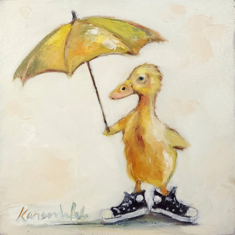 """""""Duck Chuck Illuminated"""" original fine art by Karen Weber"""