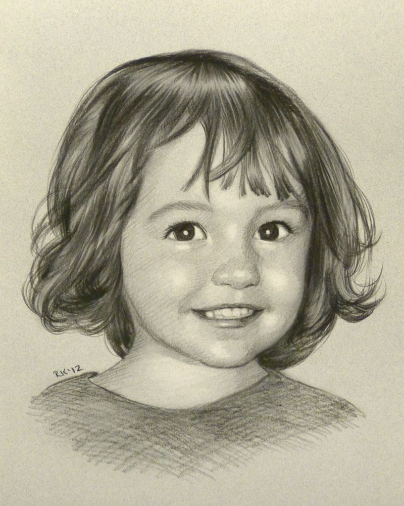 """portrait - day 23"" original fine art by Rita Kirkman"