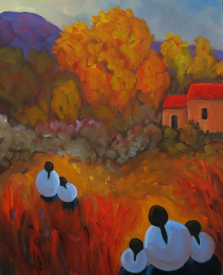 """THE WALKERS"" original fine art by Dee Sanchez"