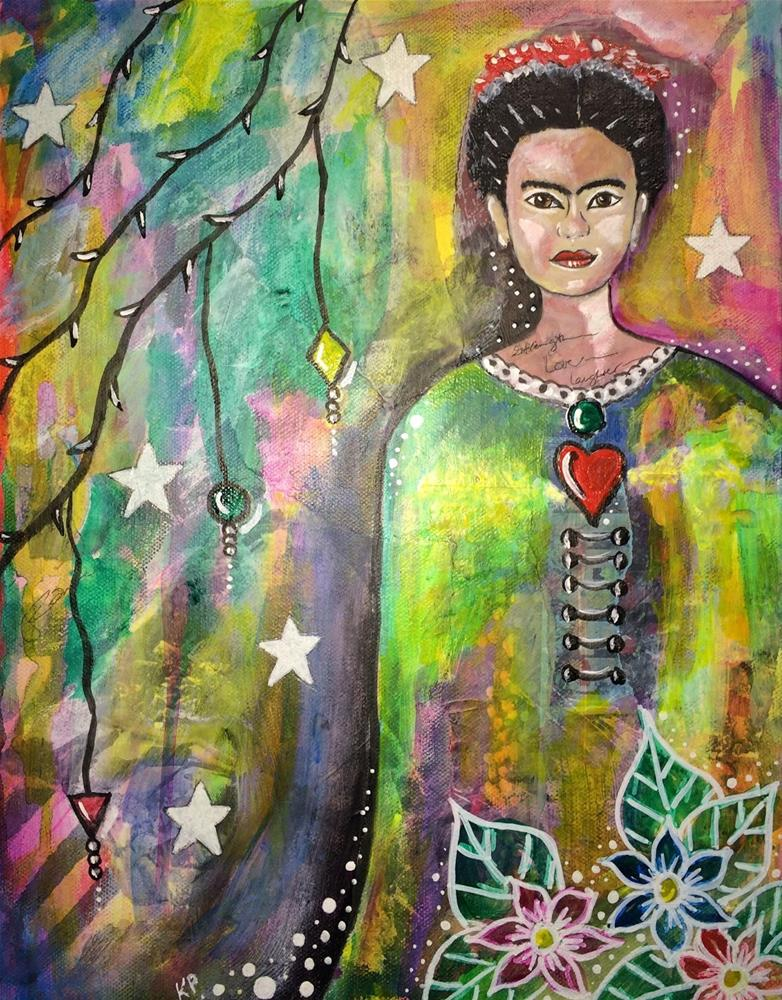 """""""The Many Layers of Frida"""" original fine art by Kali Parsons"""