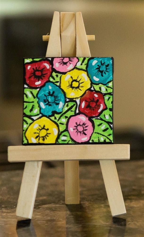 """""""In the Flower Garden"""" original fine art by Kali Parsons"""
