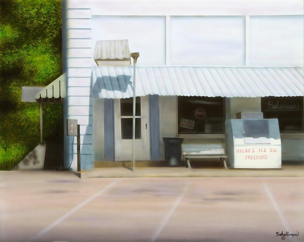 """""""Store at Tebbetts"""" original fine art by Fred Schollmeyer"""