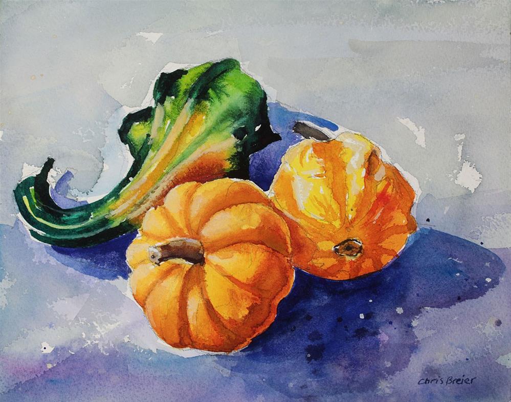 """Gourds"" original fine art by Chris Breier"
