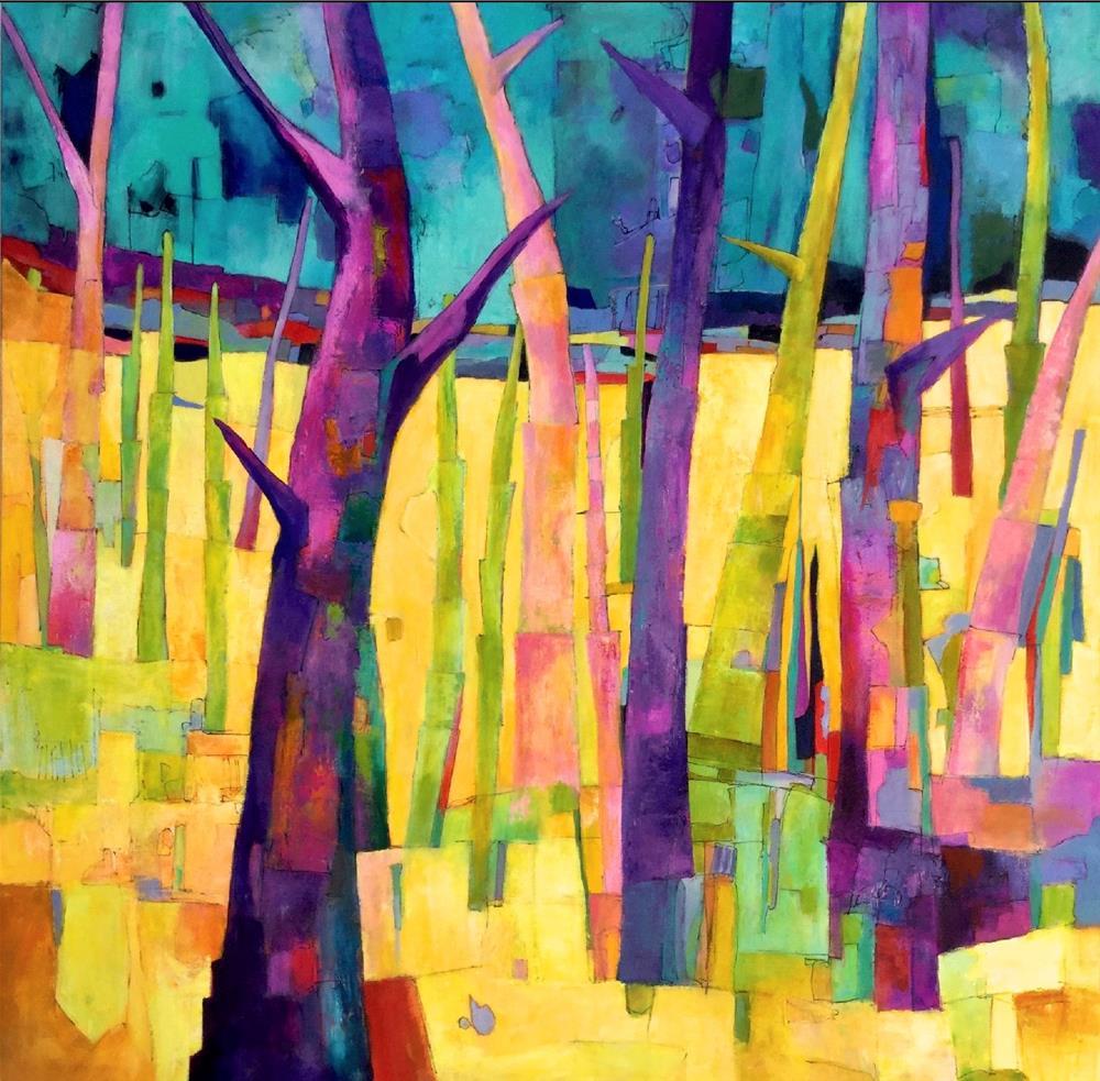 """""""Razzle Dazzle"""" original fine art by Patricia MacDonald"""