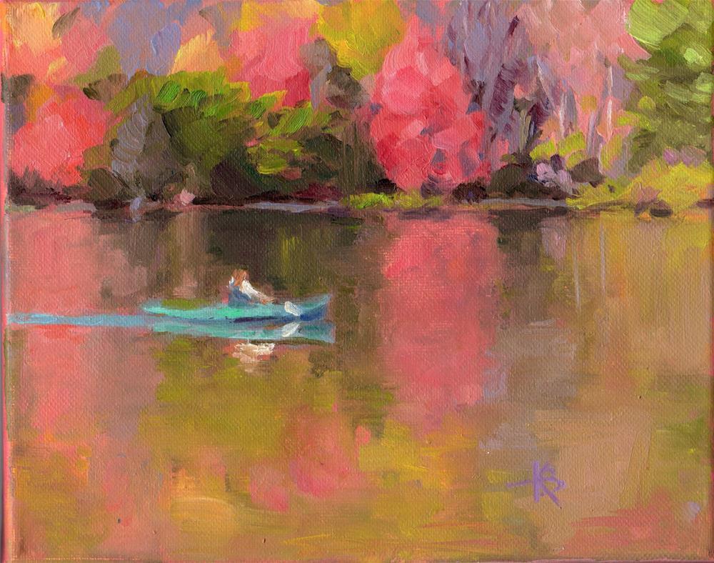 """""""Lake Bloom"""" original fine art by Kathy Bodamer"""