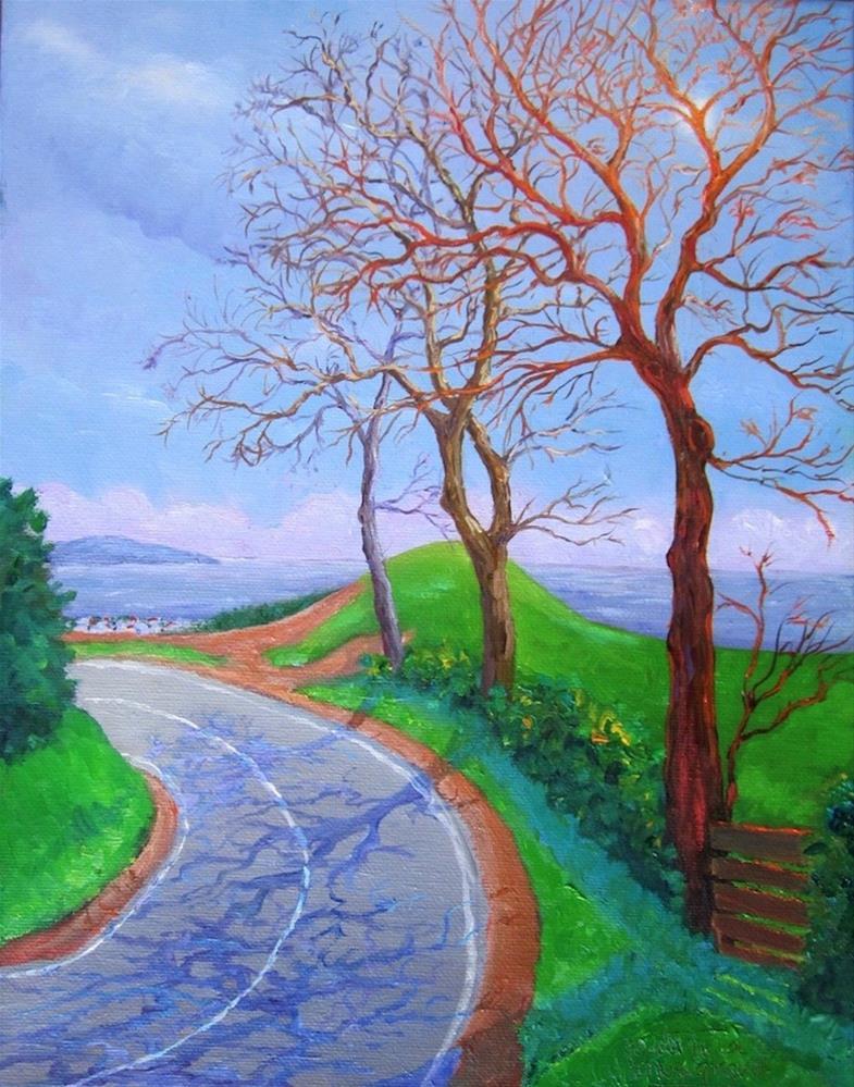 """Sao Bras Ahead"" original fine art by Patricia Musgrave"