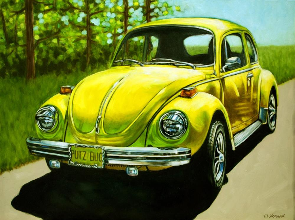 """""""Punch Buggy Yellow"""" original fine art by Margaret Horvat"""