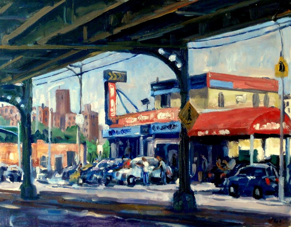 """""""Car Wash, NYC"""" original fine art by Thor Wickstrom"""