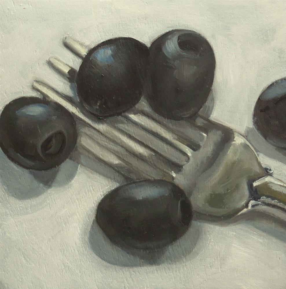 """""""Black Olives"""" original fine art by Beth Moreau"""