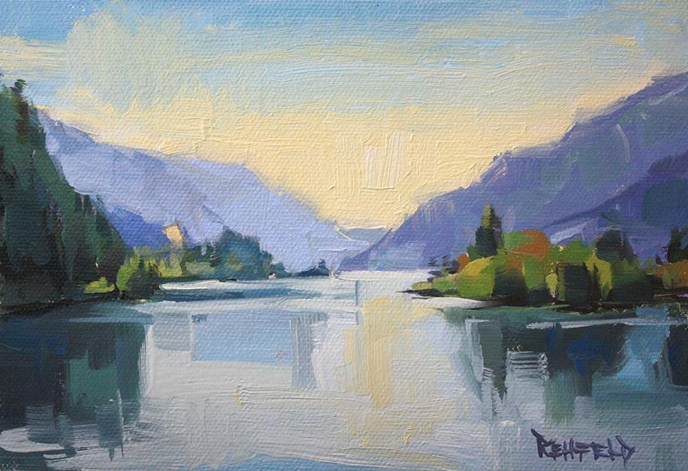 """Light on The Columbia River Gorge"" original fine art by Cathleen Rehfeld"