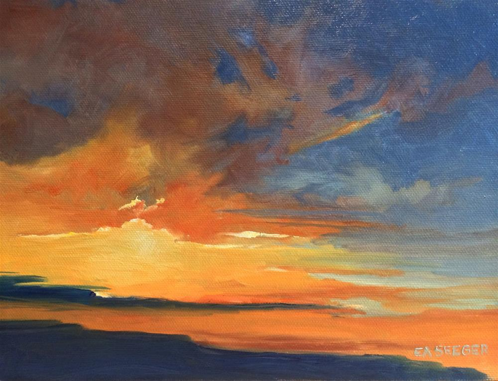 """Sunset Richland WA"" original fine art by Elisabeth Seeger"