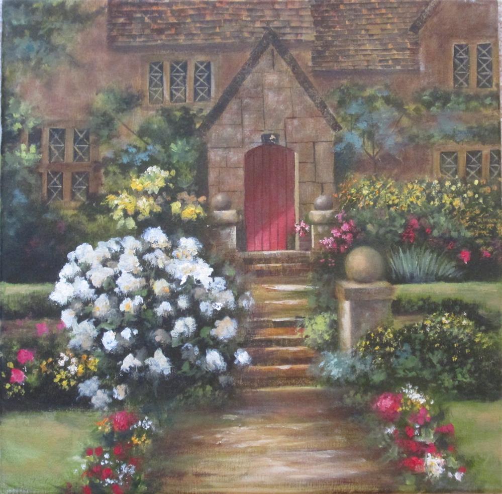 """""""The Red Door"""" original fine art by Barbara Wagner"""