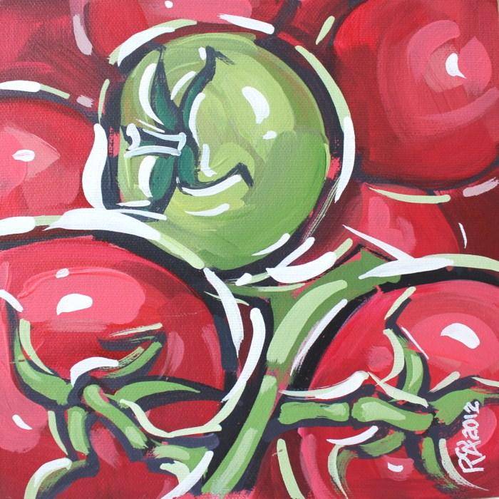 """""""A green tomato"""" original fine art by Roger Akesson"""