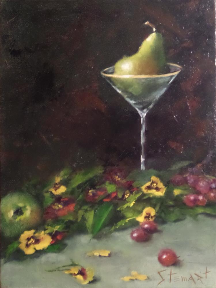 """""""Bed of Pansies"""" original fine art by Kris Stewart"""