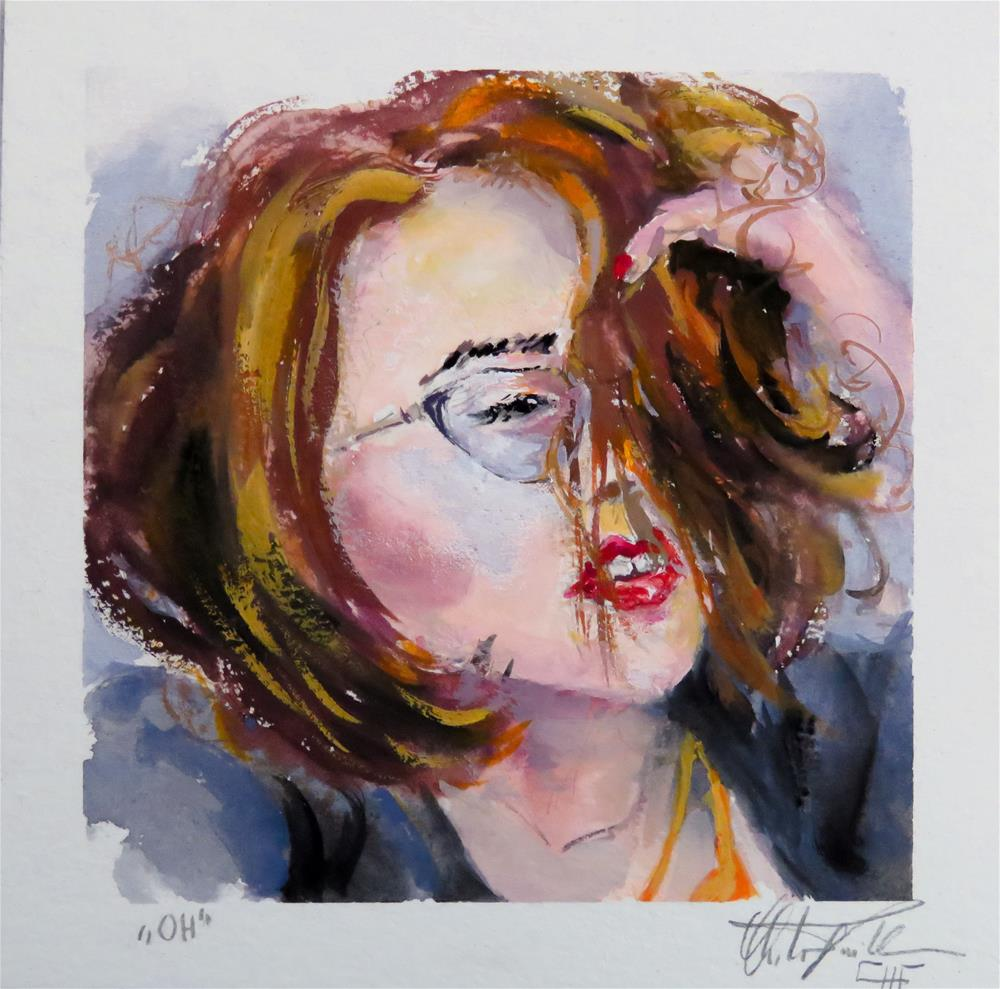 """Melissa"" original fine art by Christa Friedl"