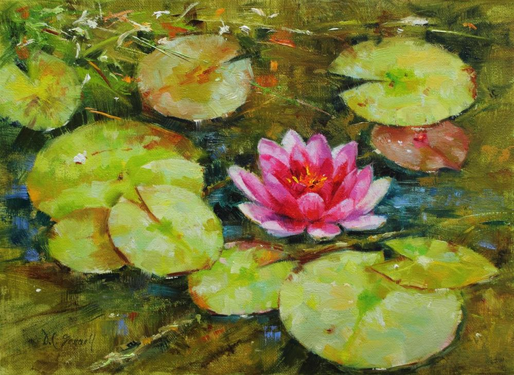 """""""Water Lily"""" original fine art by Donna C Farrell"""