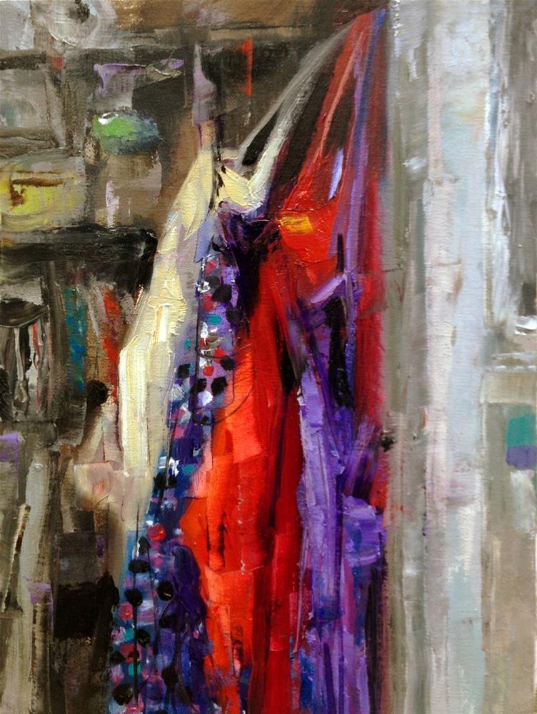 """""""Closet Aprons"""" original fine art by Julie Ford Oliver"""