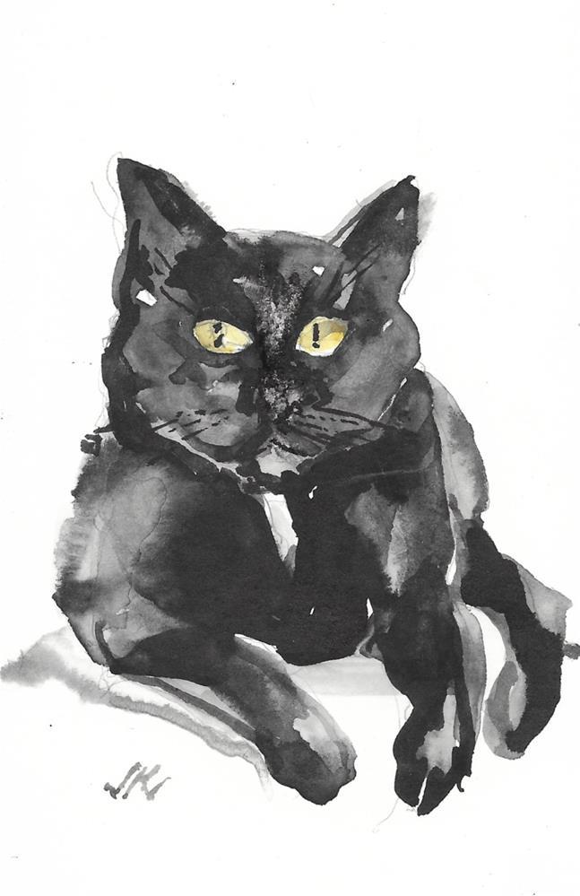 """Daily Cat 196"" original fine art by Jean Krueger"