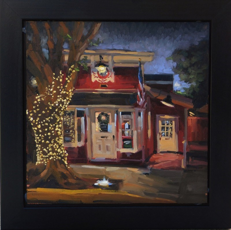 """Midnight Teahouse"" original fine art by Karen Werner"