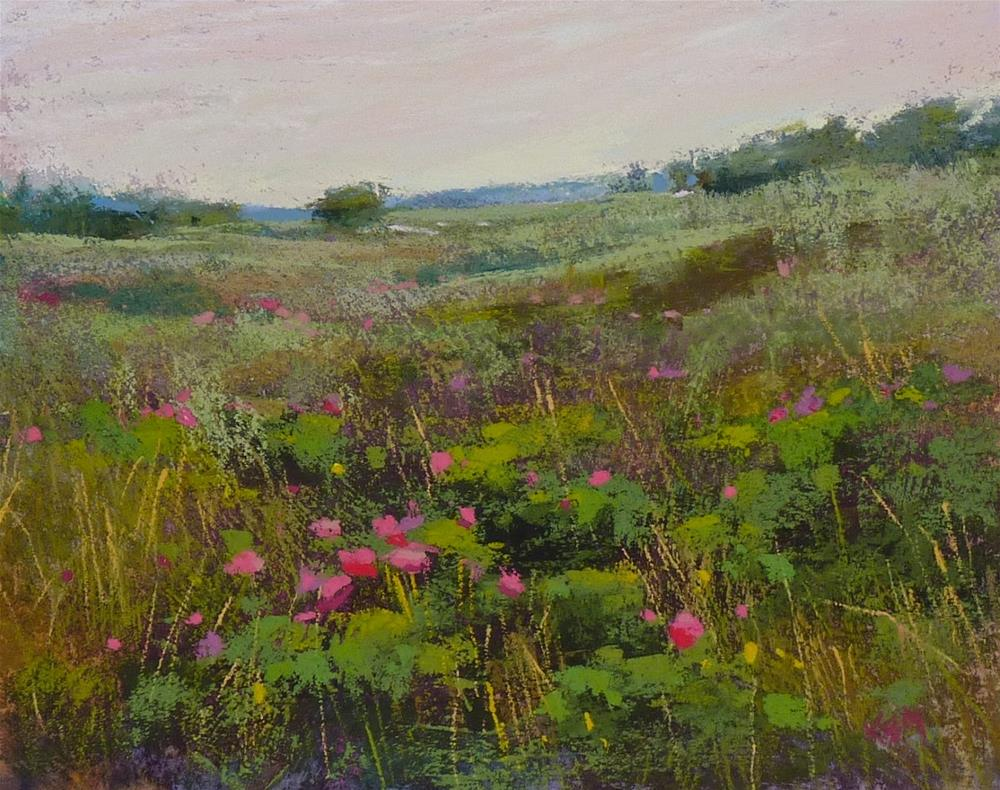"""A Quick Pastel Demo: Wild Roses in the Moors"" original fine art by Karen Margulis"