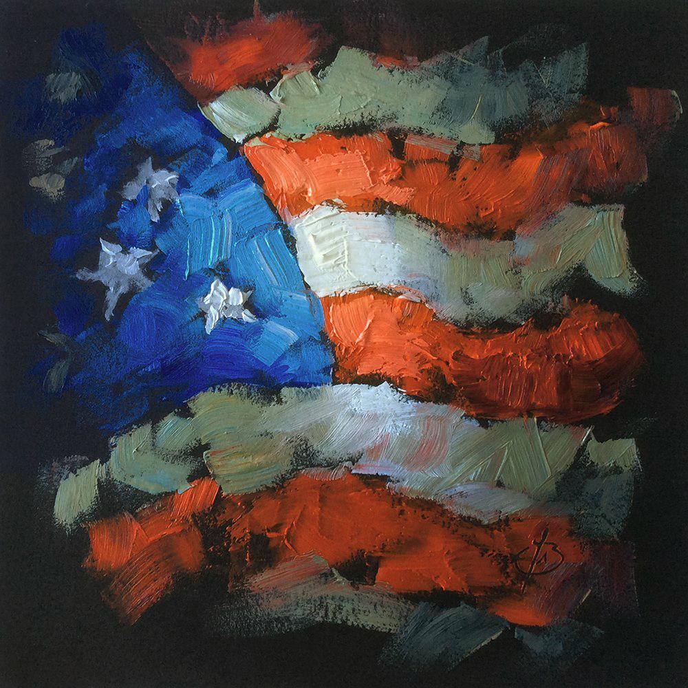"""MADE IN AMERICA"" original fine art by Tom Brown"