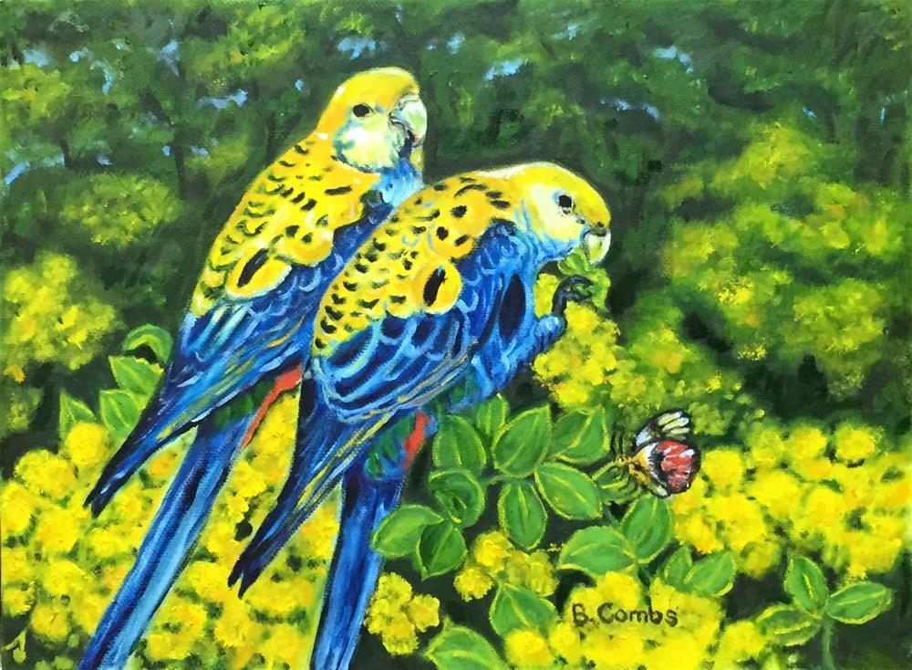 """Exotic Birds"" original fine art by Bebe Combs"