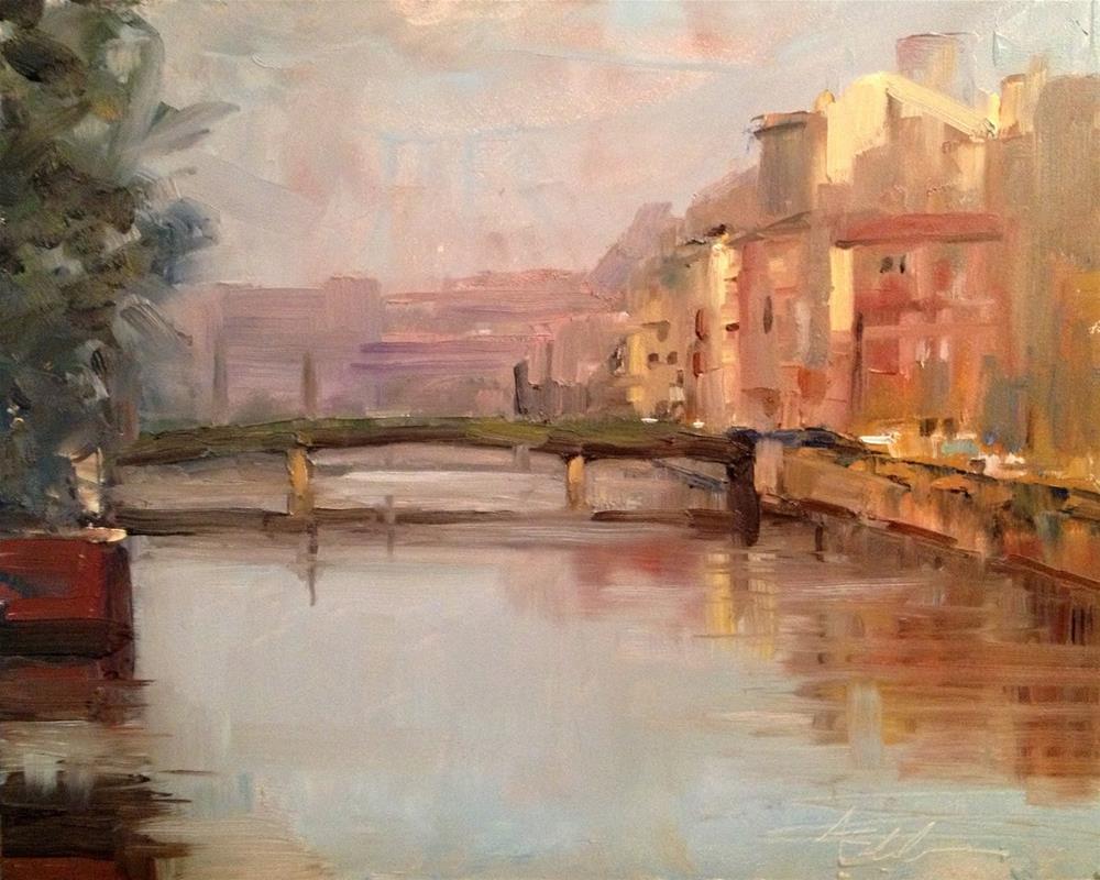 """Early Morning, St. Petersburg, Russia, 10x8"" original fine art by Ann Feldman"