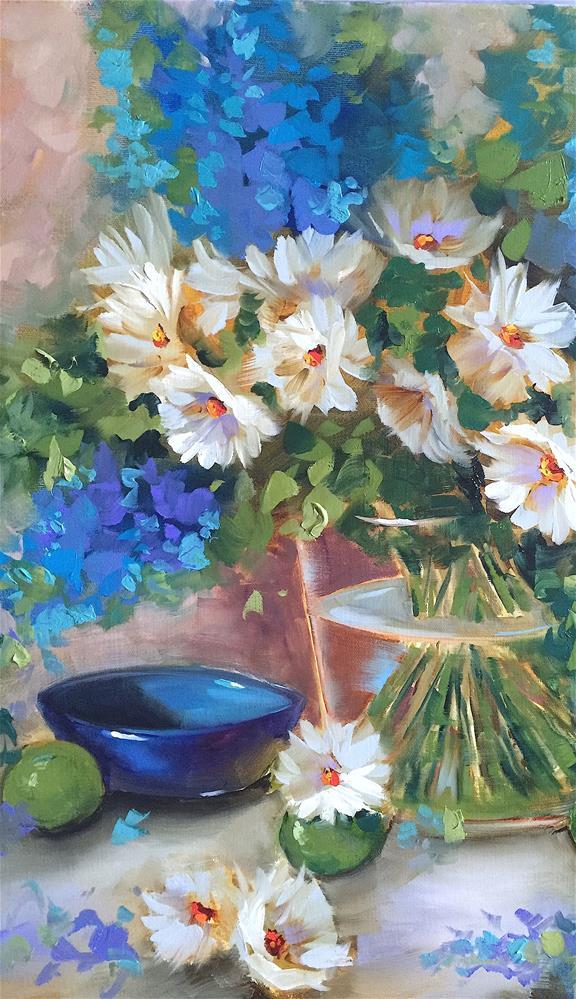 """Little Daisy Blue and an Orlando Workshop - Nancy Medina Art"" original fine art by Nancy Medina"