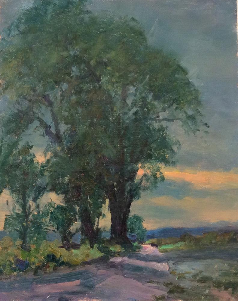 """Last light on the Dales"" original fine art by John Shave"