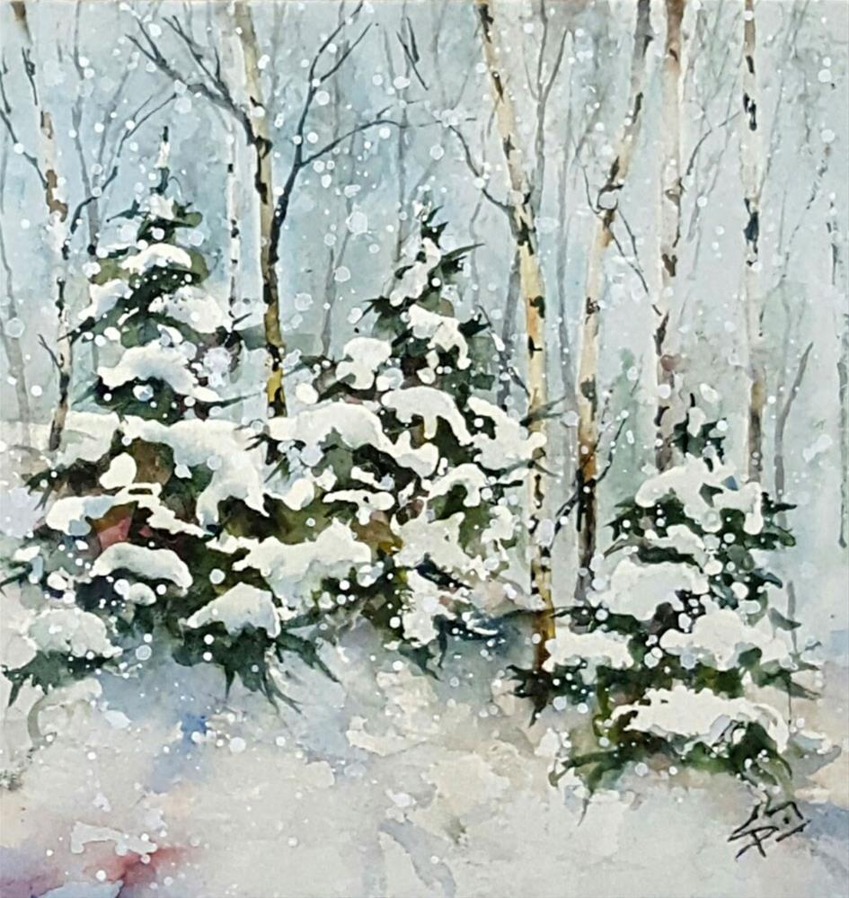 """Wintry Mix"" original fine art by Sue Dion"