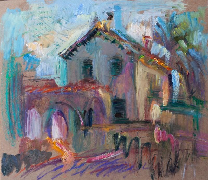 """Closed Summer House"" original fine art by Anna Fine Art"