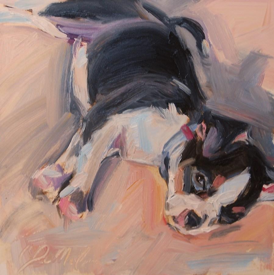"""""""Puppy Love"""" original fine art by Carol DeMumbrum"""